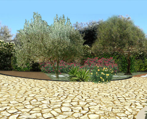 Patio design in Kalamata - Greece - ArkiTopo - Architecture & Topography