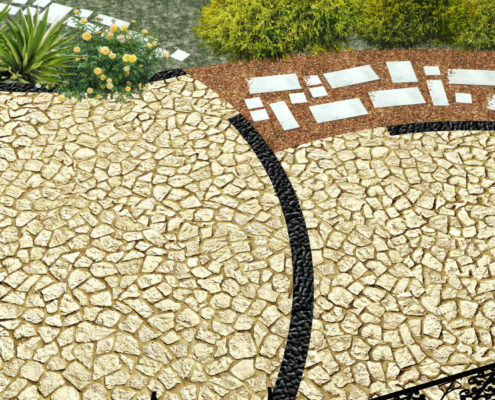 Patio design in Kalamata - Greece - ArkiTopo - Architecture & Topography