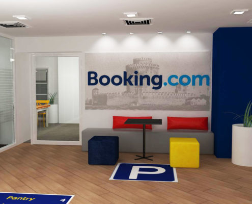 "Arki Topo - Architecture & Topography - ""Booking.com"" Offices refurbishment, in Thessaloniki, Greece"