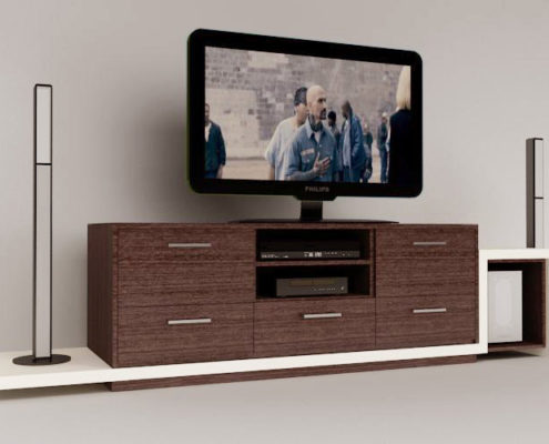 Arki Topo – Architecture & Topography - TV furniture design for an apartment, Elefsina, Attiki, Greece