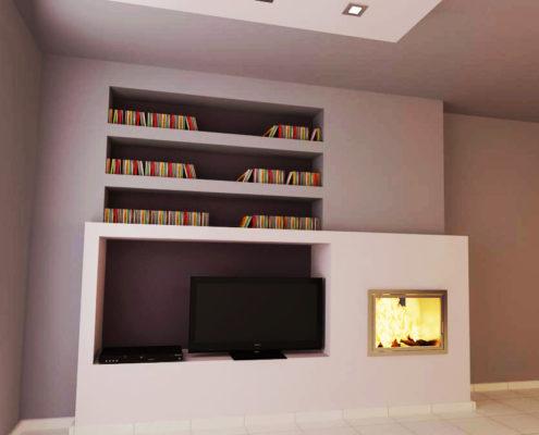 Arki Topo – Architecture & Topography - Fireplace design for an apartment, Argiroupoli, Attiki, Greece