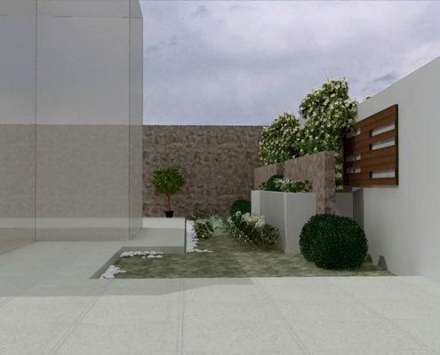 Arki Topo – Architecture & Topography - Design of flowerboxes in a house, Kalyvia, Attiki, Greece