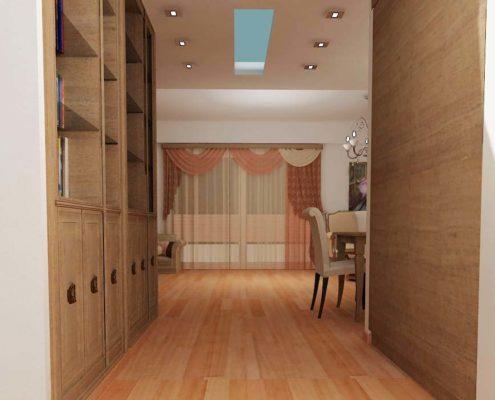 Arki Topo - Architecture & Topography - Interior design of a Living room in a flat in Kifissia, Attiki