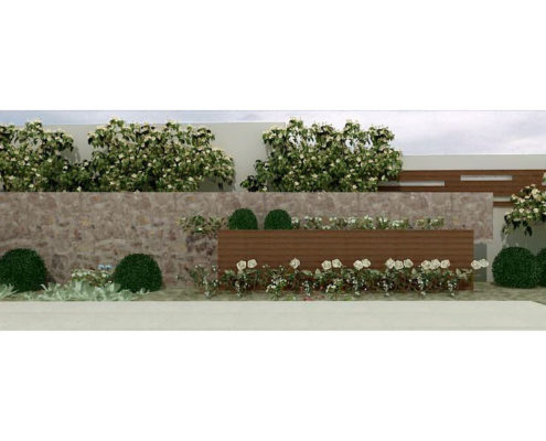 Arki Topo – Architecture & Topography - Design of flowerboxes in a house, Kalyvia, Attiki, Greece