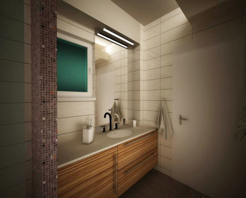 Arki Topo – Architecture & Topography - Bathroom refurbishment in a flat in Argyroupolis, Attiki, Greece